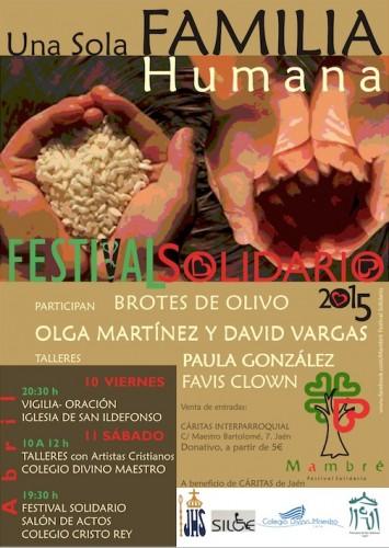 Cartel Festival solidario